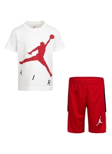 Nike Nike Baskılı Kırmızı Şort Takım Kırmızı